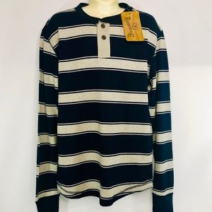 Robuck & Co. Cotton Thermal Striped Shirt